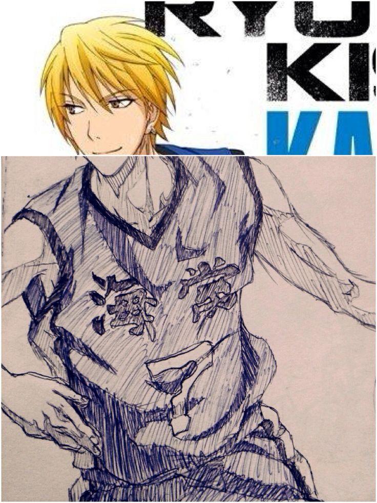 Pen sketch, Kise Ryouta from kuroko no basuke. (Pic joiner)