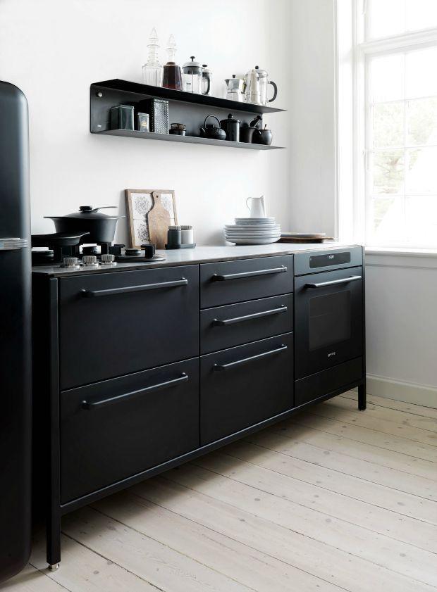 keukens zijn gedurfd, maar staan chique, combineer zwarte keuken ...