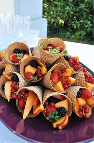 fruit in cones