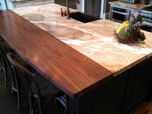 Species Walnut Construction Style Plank Thickness 1 3 4 Finish Satin Varnish Edge Profile 1 4 Round O Wood Countertops Kitchen Finishes Wooden Bar Top