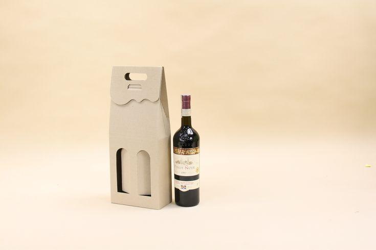 karton na dwie butelki wina