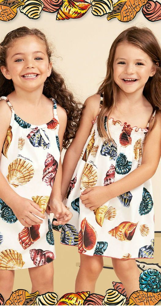 9f931127596 DOLCE   GABBANA Baby Girls White Seashell Print Sun Dress from the Spring Summer  2018 Collection. Love this delightfully pretty sun dress inspired by the ...