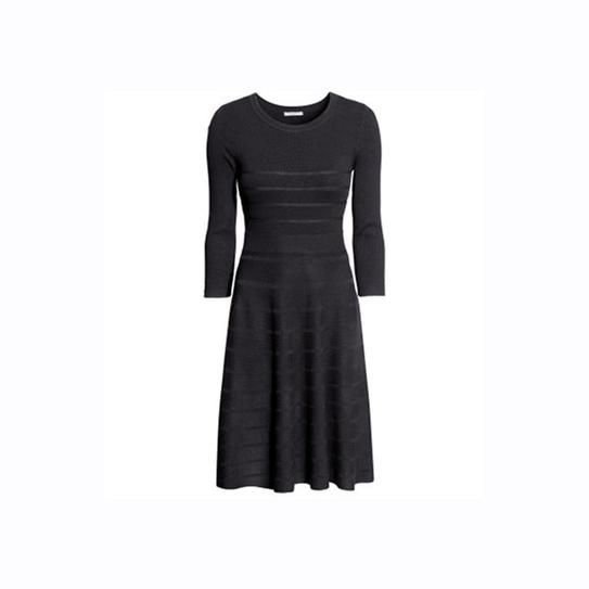 H&M textured knit dress   10 Cheap Sweater Dresses (That Are Seriously Stylish)   StyleCaster