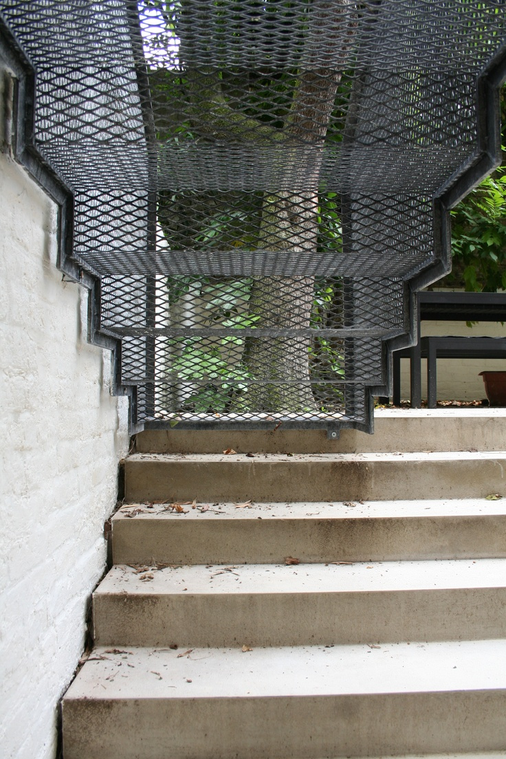 Chepstow Road steel mesh stair