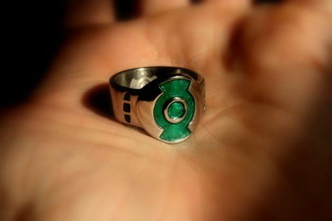 Custom SURGICAL STAINLESS STEEL Green Lantern First Flight Movie inspired Ring. by Batjeepster on Etsy. I just got this it's awesome