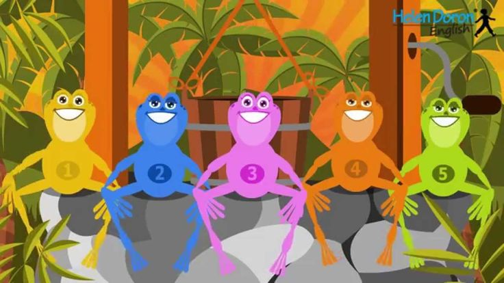 Preposition In Learn In Marathi All Complate: 5 Little Frogs - Animal Songs For Kids In English