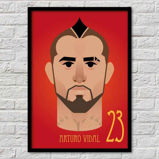Arturo Vidal – Bayern München Fussball Flatdesign Bundesliga Vectorart Miasanmia…