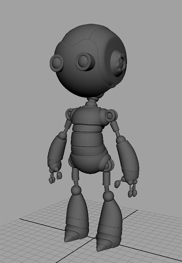 Here's the robot. Modelled and UV mapped. Ready for rigging and textures