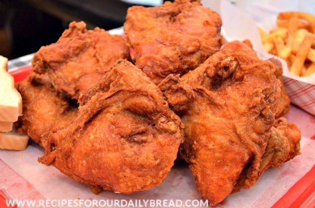 Gus's Fried Chicken in Little Rock is a little hot and spicy but so delicious.