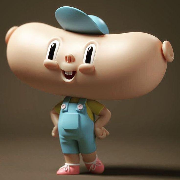 Little Sausage Head   Designer: Kibooki