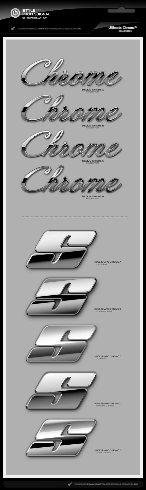 Ultimate Chrome Styles 2 Pro - Text Effects Styles