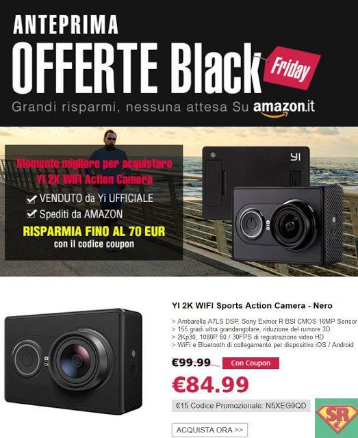 Venerdì nero in anteprima: YI Action Camera Grande prezzo