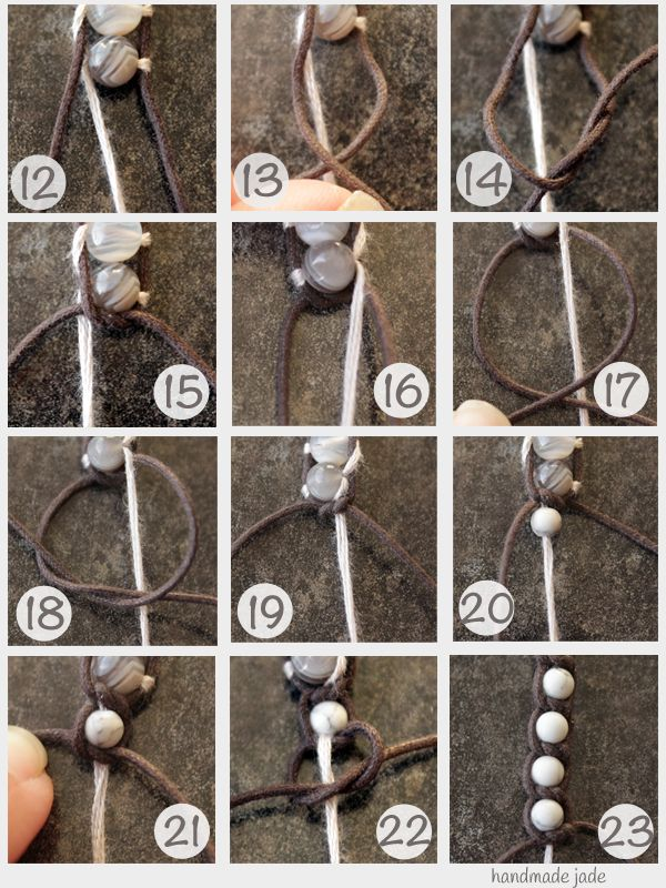DIY wrap knot bracelet, I always wear these type of bracelets so this is awesome!