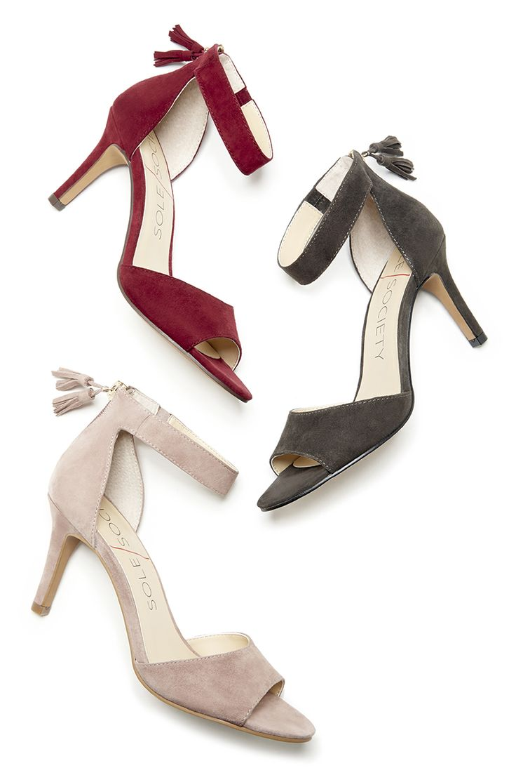 Chic suede party heels | SALE $55.97