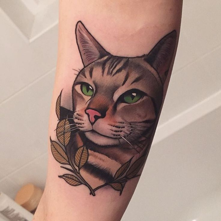 45 Cute Cat Tattoo designs and ideas  - Spiritual luck
