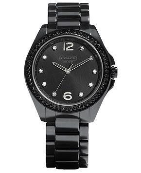 Beautiful Black Coach Watch