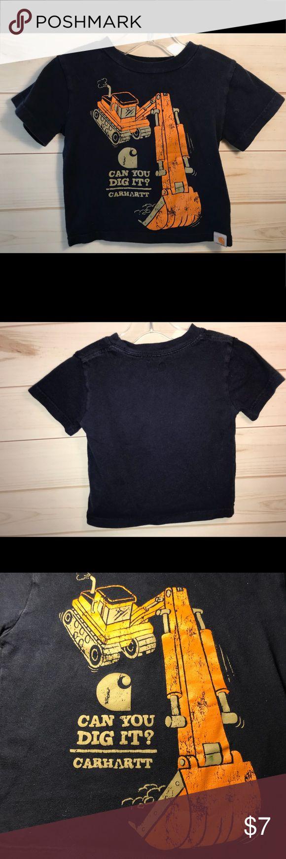 "Carhartt T-Shirt Tractor ""Can you dig"" Carhart short sleeve shirt. Color is navy blue. Carhartt Shirts & Tops Tees - Short Sleeve"