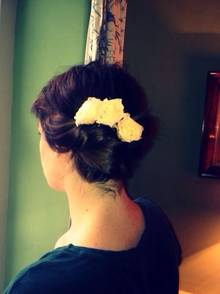 Vintage romantic bridesmaids hair