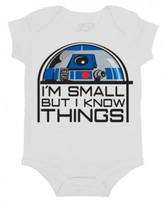 I found 'Star Wars Small But Know Things R2D2 Mini Fine Movie Baby Creeper Romper Snapsuit' on Wish, check it out!