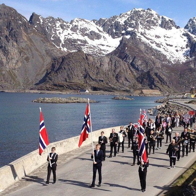 Images of Norway: 17. mai i #henningsvær Gratulerer med dagen! #lofoten…