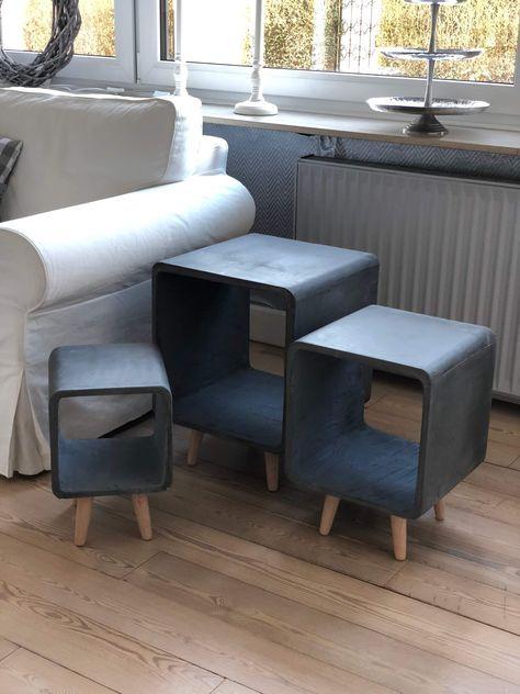 Einfach Schlicht Und Praktisch Sind Die Beton Beistelltische Welche Es In Drei Grossen Und Zwei Farben Gibt Nutzen Sie Die Tische Als Beistelltisch N