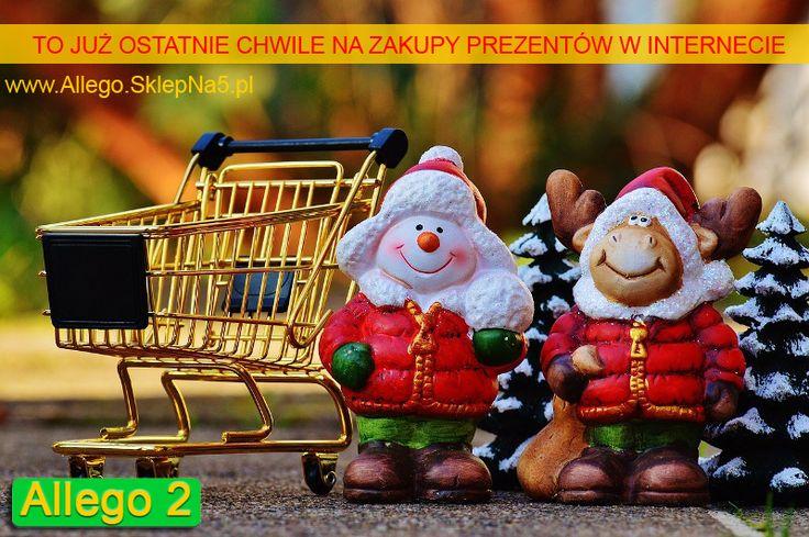 Jeśli ktoś jeszcze nie kupił prezentów na Gwiazdkę dla swoich bliskich, a planuje to zrobić za pośrednictwem Internetu (np. w sklepie internetowym), to warto dokonać zakupów w ten weekend, aby na pewno dotarły zamówione produkty na czas...  http://www.allego.sklepna5.pl