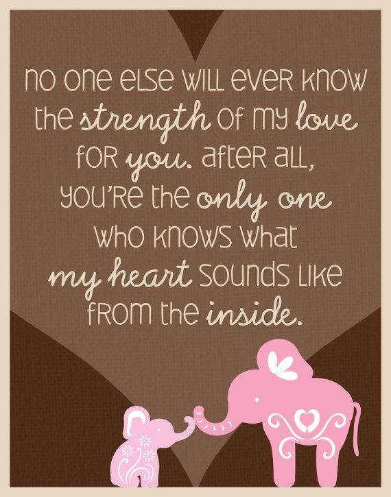 Elephant Quote Poster Print For Baby S Nursery Rachel Aubrey