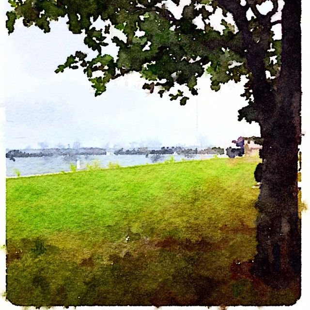 """""""Painted in #Waterlogue #Waterlogueapp #watercolour #landscapes #Australia #Ballina #rivers #nature"""" Photo taken by @glendapix on Instagram, pinned via the InstaPin iOS App! http://www.instapinapp.com (04/14/2015)"""