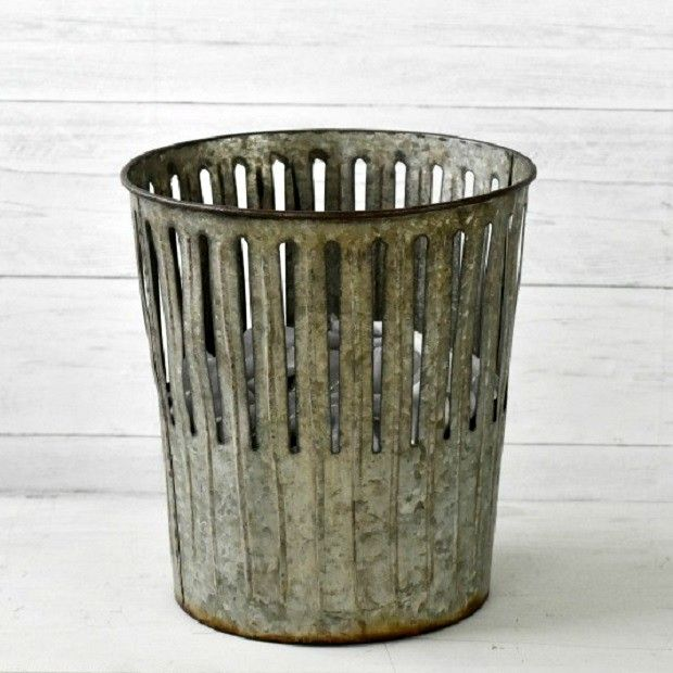 Galvanized Perforated Waste Basket