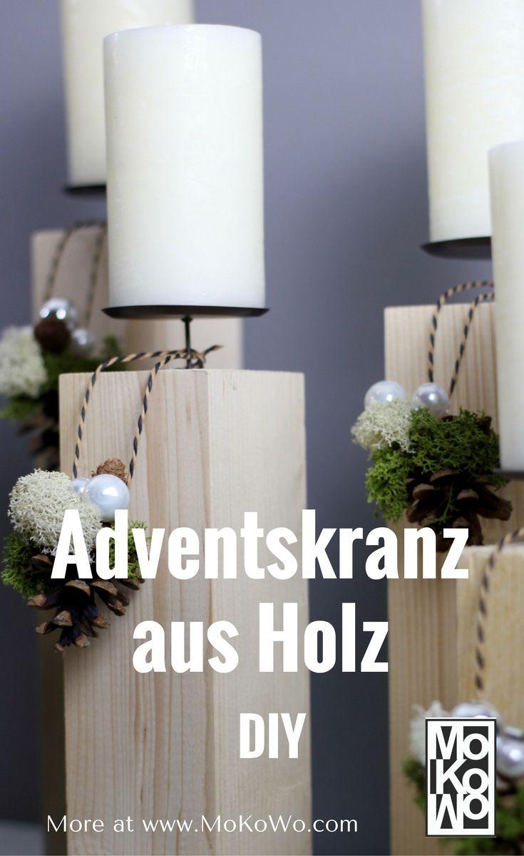 Die besten 25 adventskranz aus holz ideen auf pinterest weihnachtsdekoration basteln aus holz - Design adventskranz ...