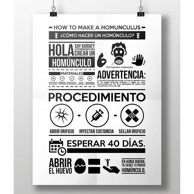 Как сделать гомункула !!! View more : behance.net/krlozwaffles !!!! #infographic  #infographics  #design  #designinspiration  #freak  #homunculus  #blackandwhite  #iconography  #infografía  #diseñografico  #poster  #mockups #tipography  #typography  #typo