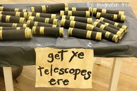 Make telescopes for your pirate adventure