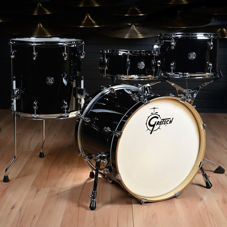 Gretsch Catalina Club 4pc Drum Kit Piano Black The new Catalina Club Classic is a four-piece drum set for the active player who needs great sound out of a kit that sets up and tears down quickly and e