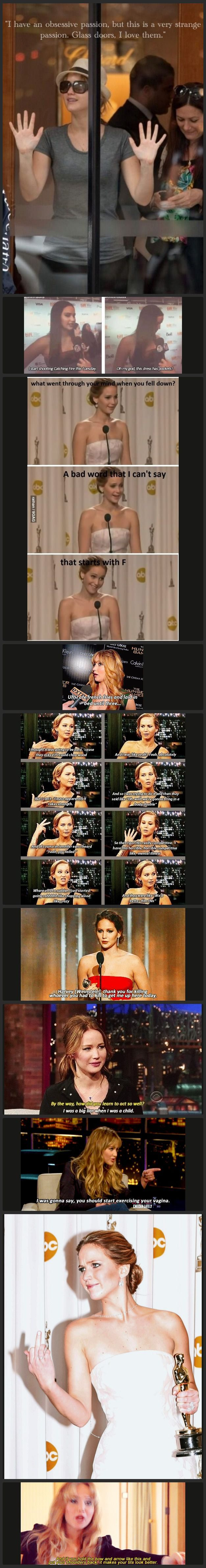 Oh, Jennifer Lawrence. I love her so much. My favorite actress