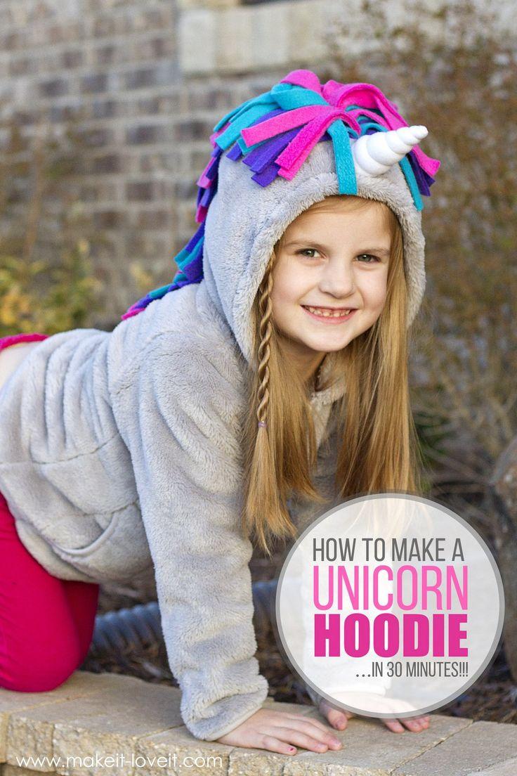 Make a UNICORN HOODIE...in 30 minutes!   via www.makeit-loveit.com