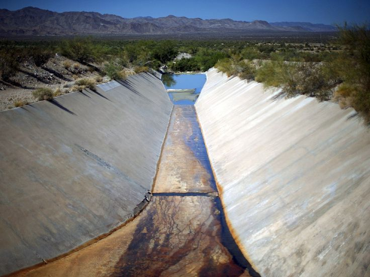 California's drought is 'a harbinger of the coming global water crisis' [ dry canal california drought\