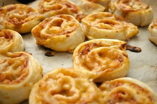 Pizza Scrolls - use frozen puff pastry