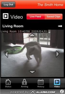 Monitor home security with Alarm.com iPhone app | iPhone Atlas - CNET Reviews