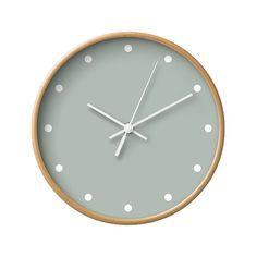 Punkte-Wanduhr, 5 neutrale Farben-Optionen, dekorative Wanduhr, traditionelle Clock, Wanduhr Kinderzimmer, Holz Uhr, klassische Uhren, Natural