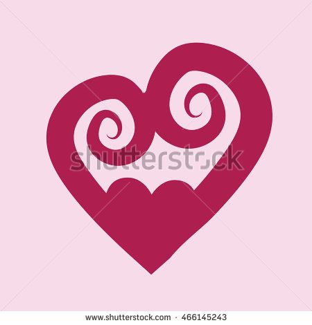 Heart icon vector with spiral style. Vector Illustration. Heart icon. Love…