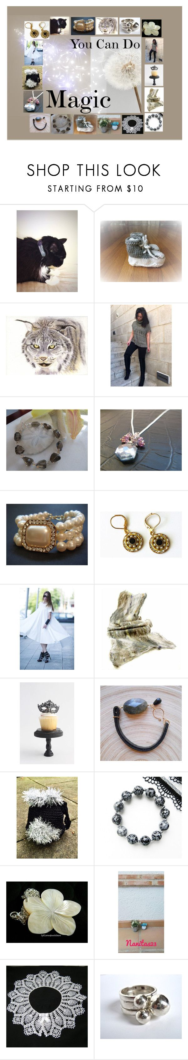 """""""You Can Do Magic: Birthday Gift Ideas"""" by paulinemcewen ❤ liked on Polyvore featuring Masquerade, Raton and vintage"""