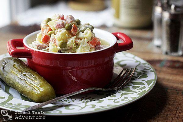 Russian Potato Salad | Olivier Salad | Recipe