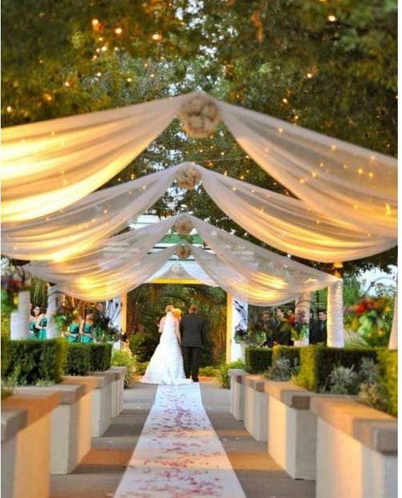 düğün yürüyüş yolu dekoru