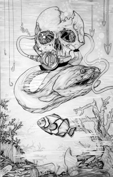 Underwater Skull Eel