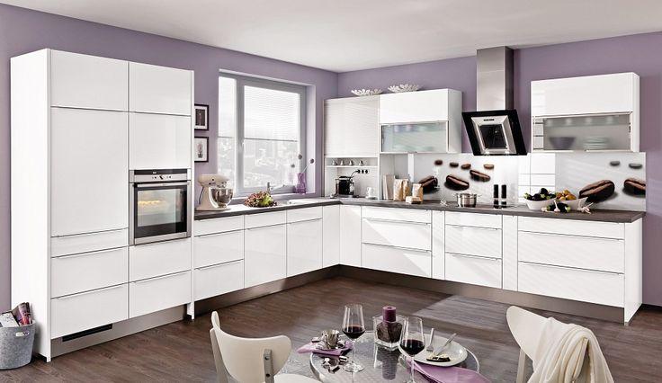 Trend-Einbauküche Vila Weiss-Hochglanz - Küchen Quelle
