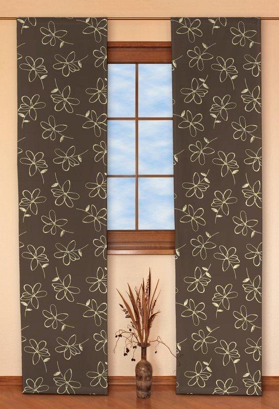 Panelové závesy (japonská stena) 2 ks V kolekcii Luna , tkanina: 311-03