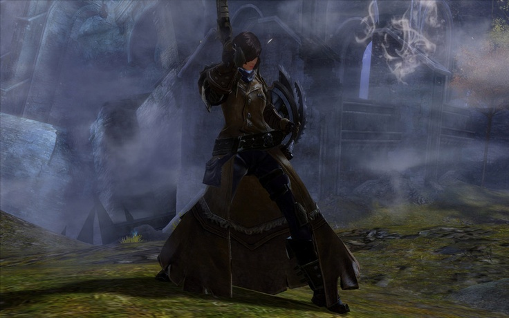 A female Engineer in Guild Wars 2.