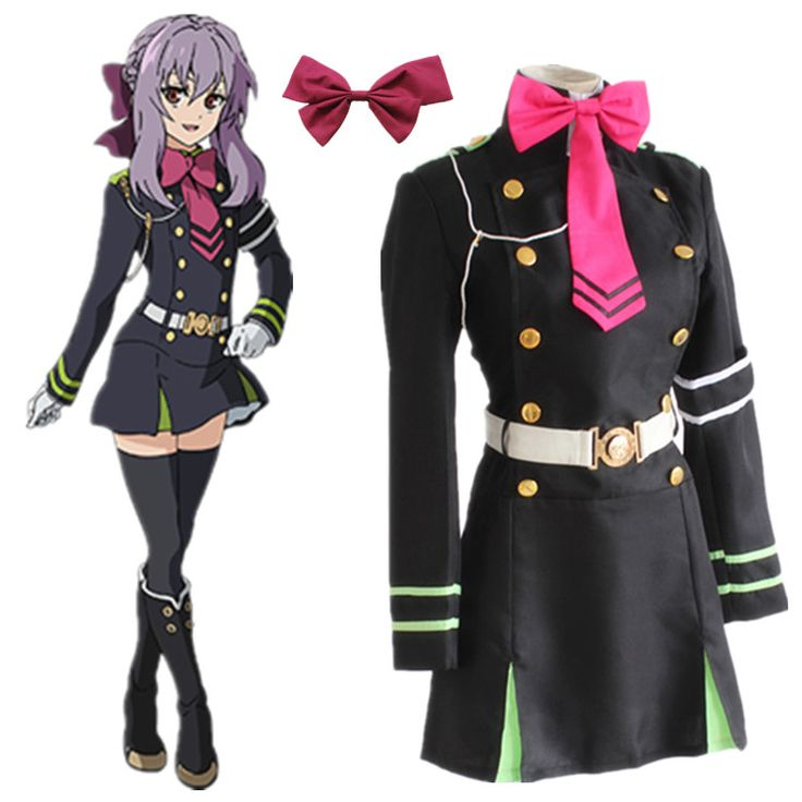 Find More Clothing Information about Hiiragi Shinoa cosplay costumes uniform dress Seraph of the end animation clothing Dress+Tie+Belt+Strap+hair accessory,High Quality accessories black dress,China dress shine Suppliers, Cheap dress euro from anime costumes supermarket on Aliexpress.com