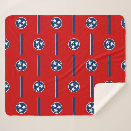 Patriotic Sherpa Blanket with Tennessee flag - stylish gifts unique cool diy customize