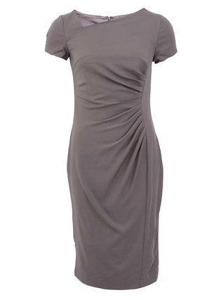 Fever London - Šedé šaty s asymetrickým výstřihem  Michigan - 1